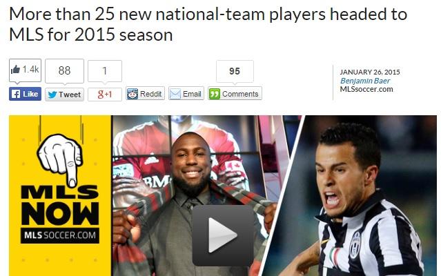 ビジャにジェラード…2015年MLS入...