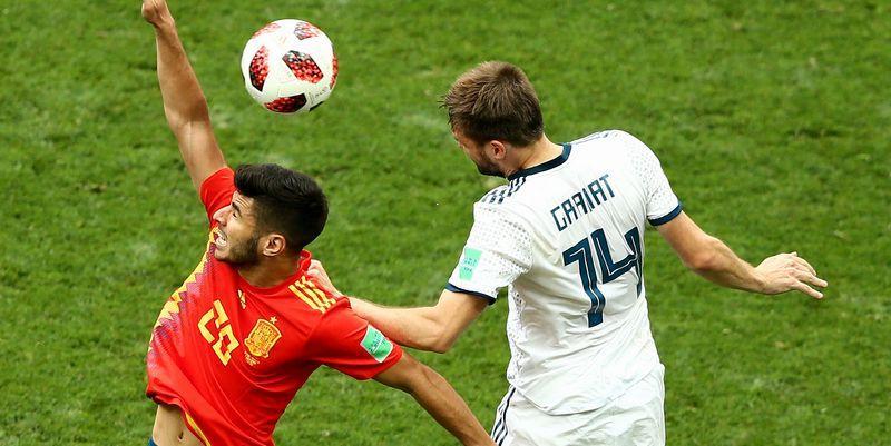 W杯でスペインに勝利したロシア、DFが珍しい記録を達成していた