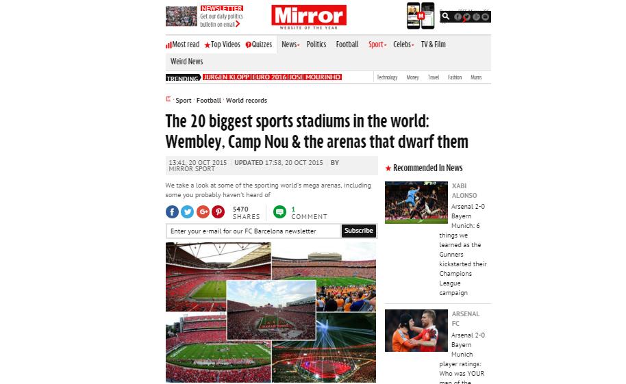 世界最大のスポーツスタジアム・...